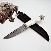Сувениры и подарки handmade. Livemaster - original item Snow leopard knife. Handmade.