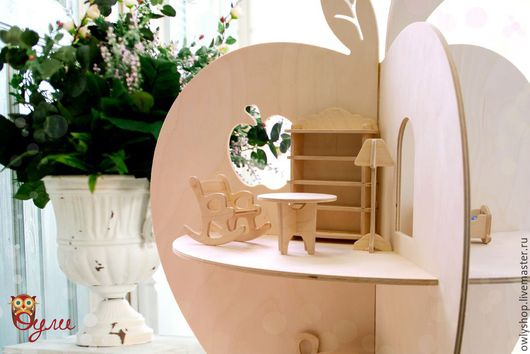 Кукольный дом ручной работы. Ярмарка Мастеров - ручная работа. Купить Полка-яблоко. Handmade. Деревянные игрушки, куольный домик