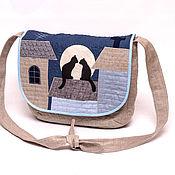 Классическая сумка ручной работы. Ярмарка Мастеров - ручная работа Сумка Тише, коты на крыше.... Handmade.