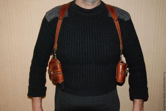 Мужские сумки ручной работы. Ярмарка Мастеров - ручная работа. Купить Двойная сумка кобура. Handmade. Сумка, кобура