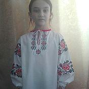 Русский стиль handmade. Livemaster - original item Children`s shirt with embroidery
