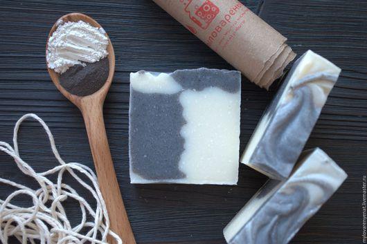 """Мыло ручной работы. Ярмарка Мастеров - ручная работа. Купить Мыло """"Инь Ян"""". Handmade. Черный, масло виноградной косточки"""