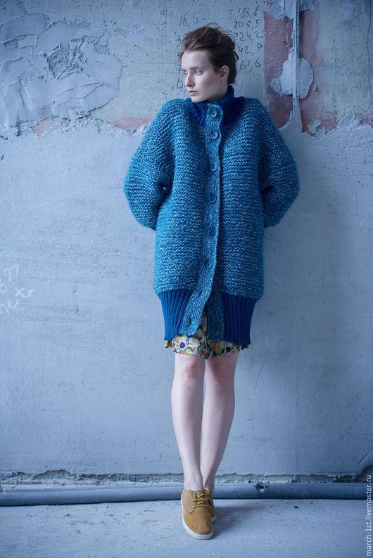 Верхняя одежда ручной работы. Ярмарка Мастеров - ручная работа. Купить Пальто-баллон Jasper. Handmade. Пальто вязаное