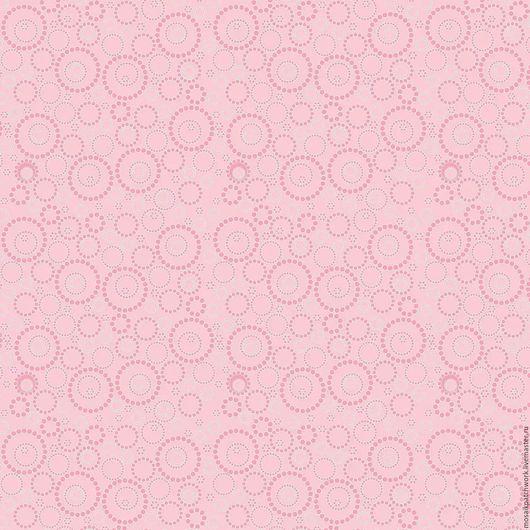 """Шитье ручной работы. Ярмарка Мастеров - ручная работа. Купить Ткань хлопок американский  """"Воскресная прогулка -розовая с кругами"""". Handmade."""