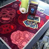 handmade. Livemaster - original item Table cloth for divination 50h50 cm. Santa muerte