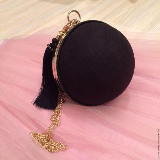 Женские сумки ручной работы. Ярмарка Мастеров - ручная работа. Купить Клатч шар. Handmade. Черный, клатч шар