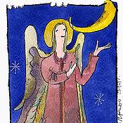 """Открытки ручной работы. Ярмарка Мастеров - ручная работа открытка и календарик """"рождественский ангел"""" B. Handmade."""