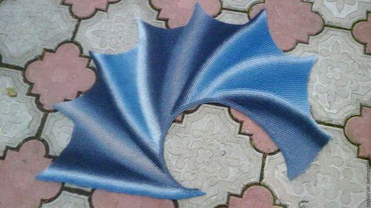 """Шали, палантины ручной работы. Ярмарка Мастеров - ручная работа. Купить Шаль """"Размах крыла"""". Handmade. Комбинированный, шаль вязаная"""