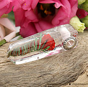 Украшения ручной работы. Ярмарка Мастеров - ручная работа Кристалл желание - кулон лэмпворк роза - вставки серебро 925. Handmade.