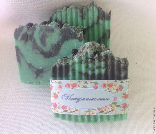 """Мыло ручной работы. Ярмарка Мастеров - ручная работа. Купить Натуральное мыло с нуля """"Грязевой лиман"""". Handmade. Зеленый"""