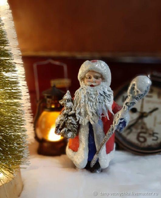 Ватная игрушка на елку , Дед Мороз, Елочные игрушки, Томск,  Фото №1