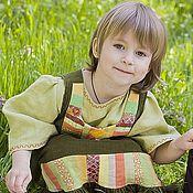 Русский стиль handmade. Livemaster - original item Sundress kids Summer Russian. Handmade.