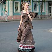 Одежда ручной работы. Ярмарка Мастеров - ручная работа Образ Тургеневская девушка: юбка, блузка, жакет. Handmade.