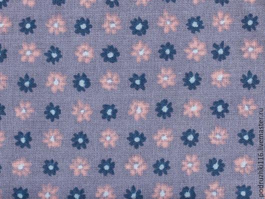 Шитье ручной работы. Ярмарка Мастеров - ручная работа. Купить Ткань Хлопок Мелкие цветы на фиолетовом. Handmade. Хлопок