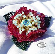 Украшения handmade. Livemaster - original item CLEMATIS GOLDEN PURPLE.  Brooch-flower CLEMATIS GOLDEN PURPLE. Handmade.