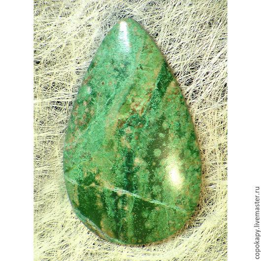 Для украшений ручной работы. Ярмарка Мастеров - ручная работа. Купить Вердит,кабошон(7669). Handmade. Зеленый, кабошон, редкий камень