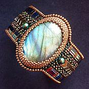 Украшения handmade. Livemaster - original item Embroidered bracelet with Labrador