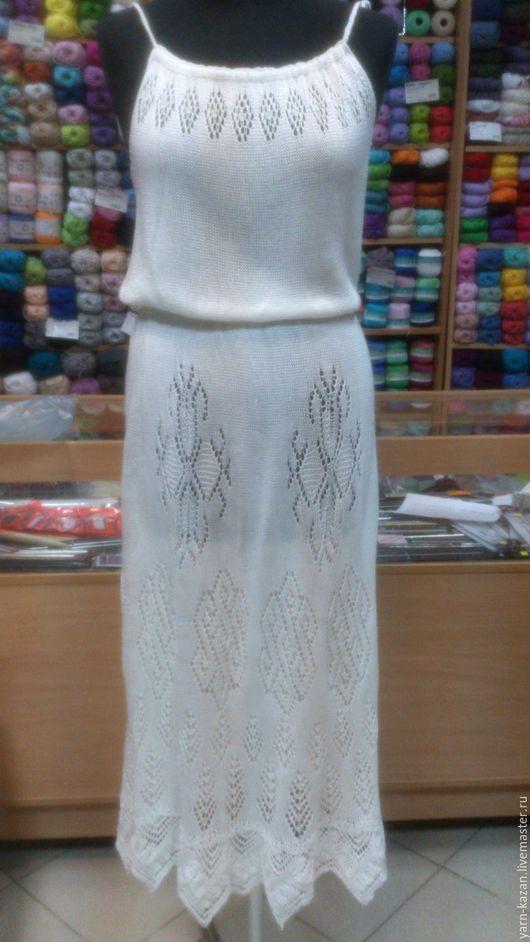 Платья ручной работы. Ярмарка Мастеров - ручная работа. Купить Ажурное вязаное платье спицами. Handmade. Ажурное платье спицами