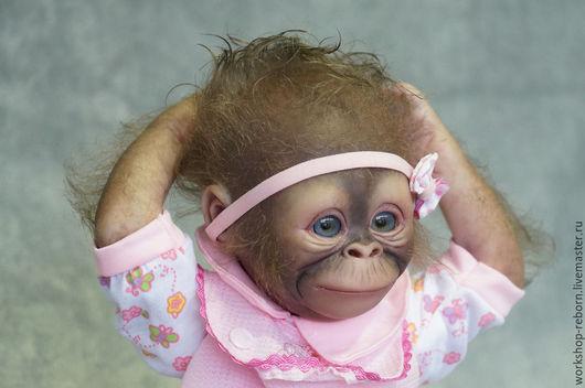 Куклы-младенцы и reborn ручной работы. Ярмарка Мастеров - ручная работа. Купить Анфиска, обезьяна, реборн, малыш, кукла. Handmade.