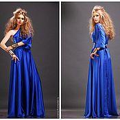 """Одежда ручной работы. Ярмарка Мастеров - ручная работа Костюм шелковый """"Синее пламя"""" в разных цветах и размерах очень удобный. Handmade."""