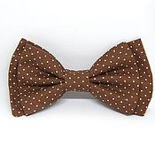 Аксессуары handmade. Livemaster - original item Bow tie brown polka dot. Handmade.