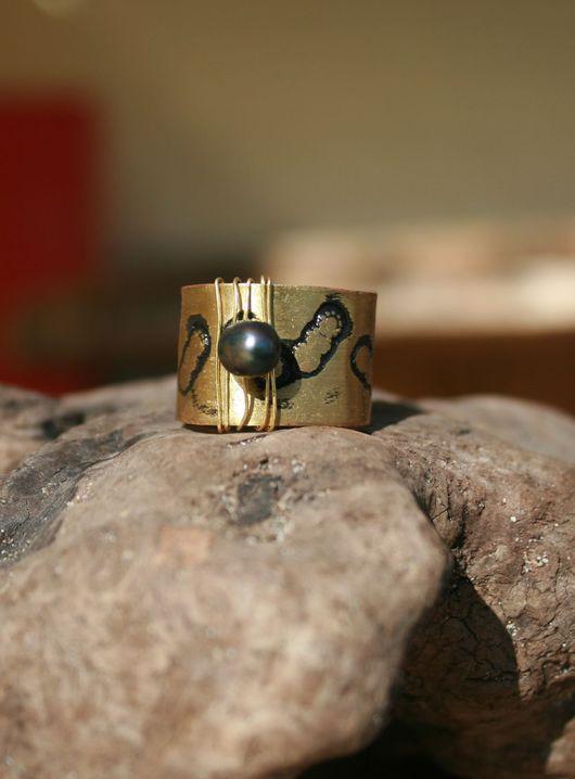 Кольцо «Золотая Гусеница», Ярмарка мастеров – ручная работа. Hаndmade