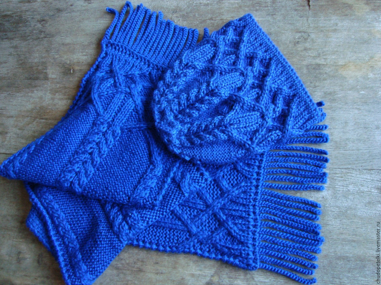 Sets of Items handmade. Livemaster - handmade. Buy Kit youth Midnight (hat and scarf).Handmade, fashion accessory