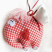 """Подарки к праздникам ручной работы. Ярмарка Мастеров - ручная работа Игрушка """"Очень влюблённый слон"""". Handmade."""