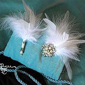 Свадебный салон handmade. Livemaster - original item Wedding barrette brooch and boutonniere. Handmade.