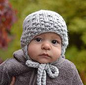Caps handmade. Livemaster - original item Warm hat baby merino wool. Handmade.