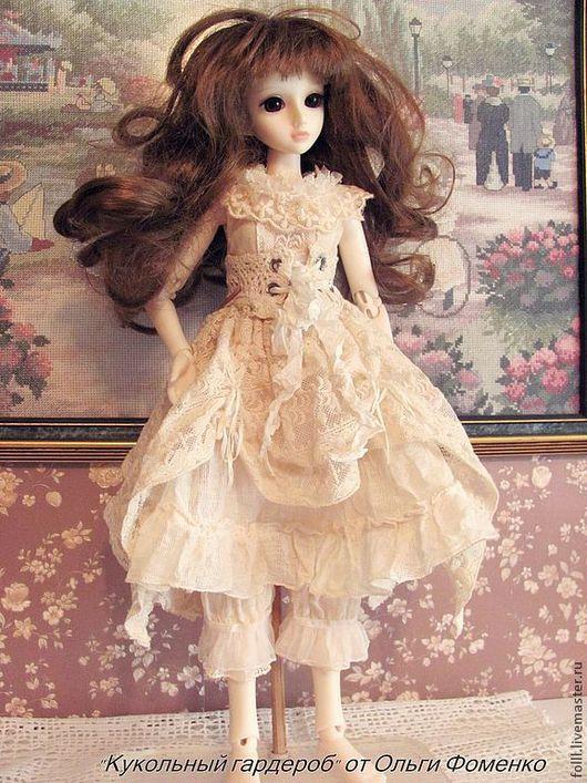Одежда для кукол ручной работы. Ярмарка Мастеров - ручная работа. Купить Наряд БОХО  для куклы БЖД  №18. Handmade. Белый