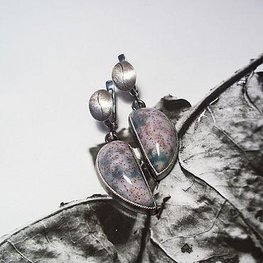 Decorations handmade. Livemaster - original item Heliotrope earrings