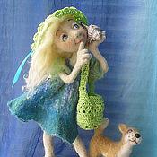 """Куклы и игрушки ручной работы. Ярмарка Мастеров - ручная работа Авторская кукла """"Прогулка у моря."""". Handmade."""