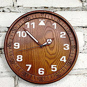 Для дома и интерьера handmade. Livemaster - original item Wall clock made of ash. Handmade.