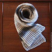 Аксессуары ручной работы. Ярмарка Мастеров - ручная работа Серый вязаный объемный шарф. Handmade.