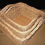 Для дома и интерьера ручной работы. Ярмарка Мастеров - ручная работа Набор квадратных коробов из лозы. Handmade.