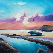 """Картины ручной работы. Ярмарка Мастеров - ручная работа Картины: Картина """"Пурпурные облака"""". Handmade."""