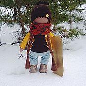 Куклы и игрушки ручной работы. Ярмарка Мастеров - ручная работа Сноубордистка. Handmade.