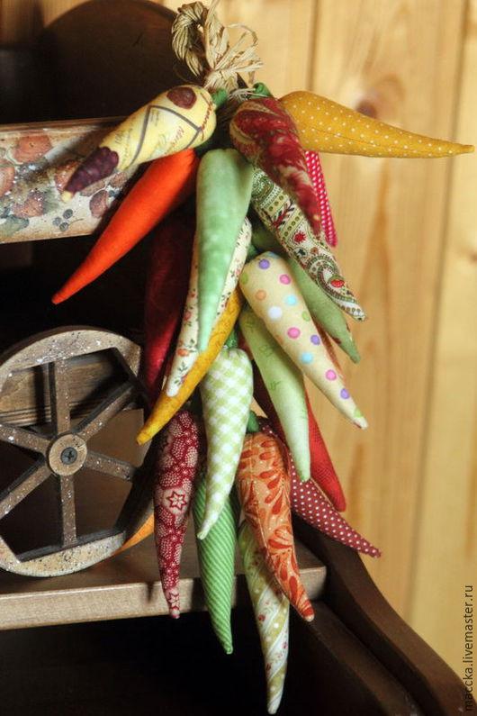 Кухня ручной работы. Ярмарка Мастеров - ручная работа. Купить Перчики текстильные. Handmade. Перец, косичка перчиков, декор кухни