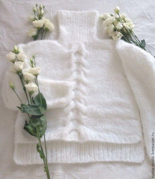 Кофты и свитера ручной работы. Ярмарка Мастеров - ручная работа. Купить Свитер. Handmade. Белый, пушистый, кофта, одежда для женщин
