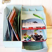 Для дома и интерьера handmade. Livemaster - original item Wooden paper organizer with drawer. Handmade.