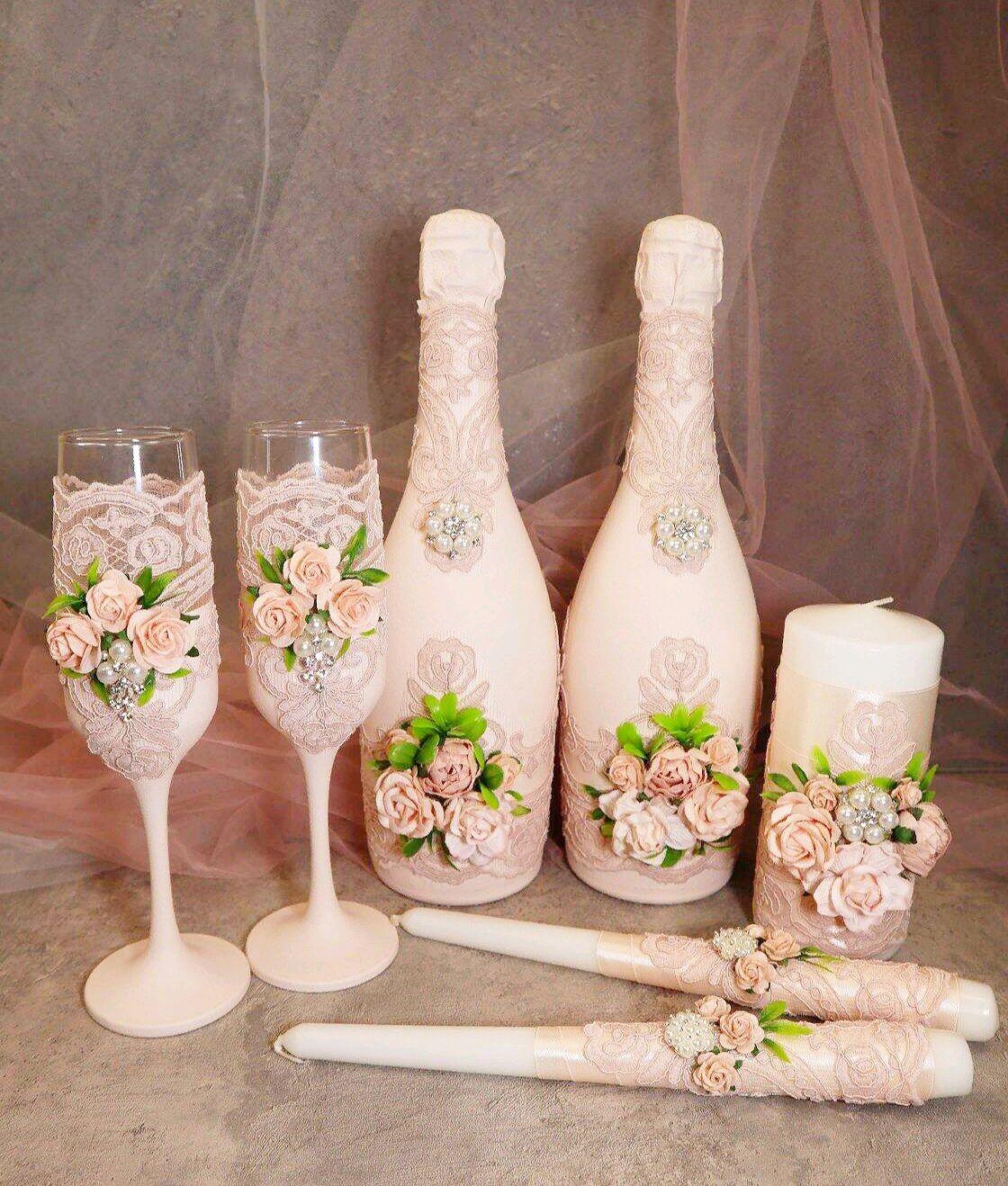 Свадебный набор на заказ, Бутылки свадебные, Саратов,  Фото №1