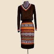 Одежда ручной работы. Ярмарка Мастеров - ручная работа Костюм (юбка - карандаш + свитер). Handmade.