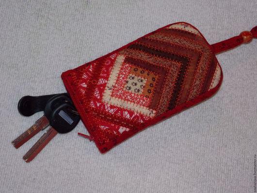 Кошельки и визитницы ручной работы. Ярмарка Мастеров - ручная работа. Купить Ключница лоскутная, чехол для ключей, ключница из ткани, Русский стиль. Handmade.