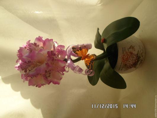 """Персональные подарки ручной работы. Ярмарка Мастеров - ручная работа. Купить """" Нежная орхидея """". Handmade. Комбинированный, керамика"""