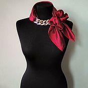 Украшения handmade. Livemaster - original item Scarf-necklace 900, transformer, satin. Handmade.