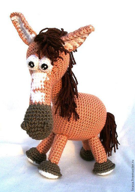 Игрушки животные, ручной работы. Ярмарка Мастеров - ручная работа. Купить Вязаная  лошадка  Баффи. Handmade. Коричневый, лошадь