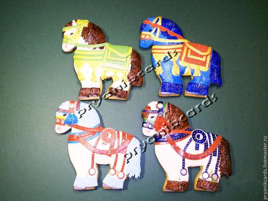 Пряничные лошадки на радость детям и взрослым.