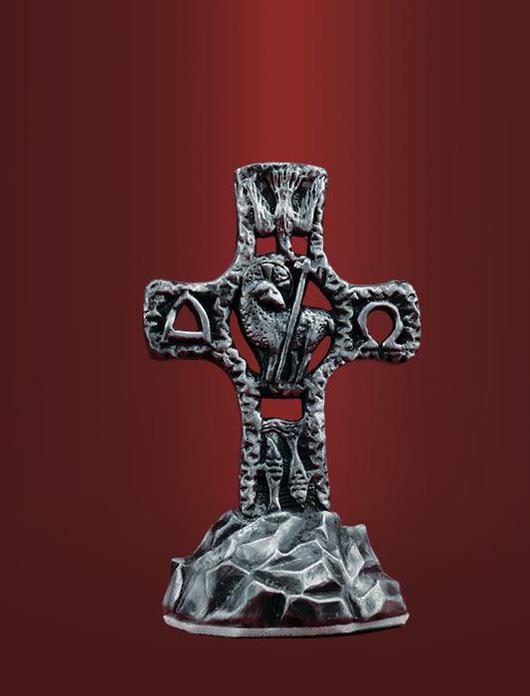 """Персональные подарки ручной работы. Ярмарка Мастеров - ручная работа. Купить Крест в автомобиль """"Альфа и Омега"""". Handmade. Миниатюра, христианство"""