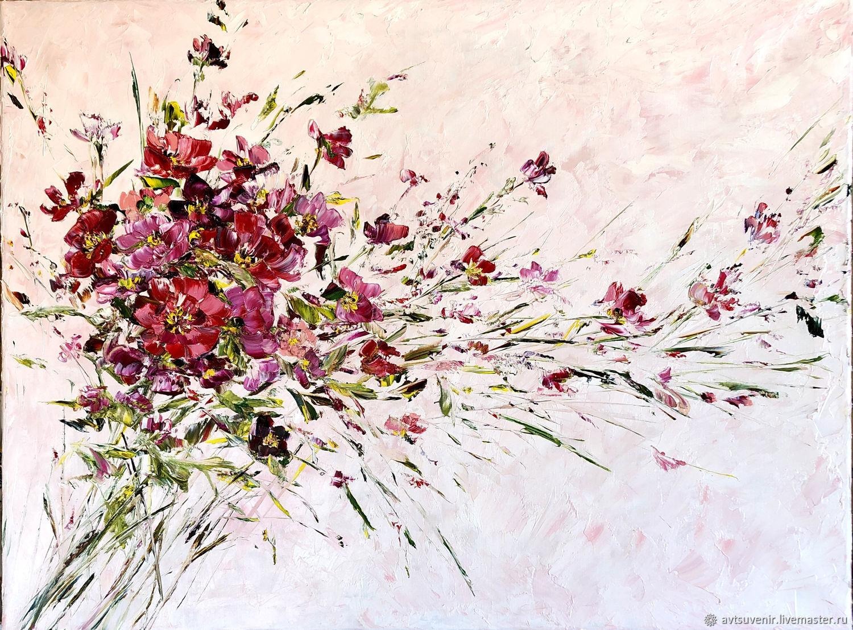 Открытка букет розовых цветов на бежевом фоне, Открытки, Чита, Фото №1